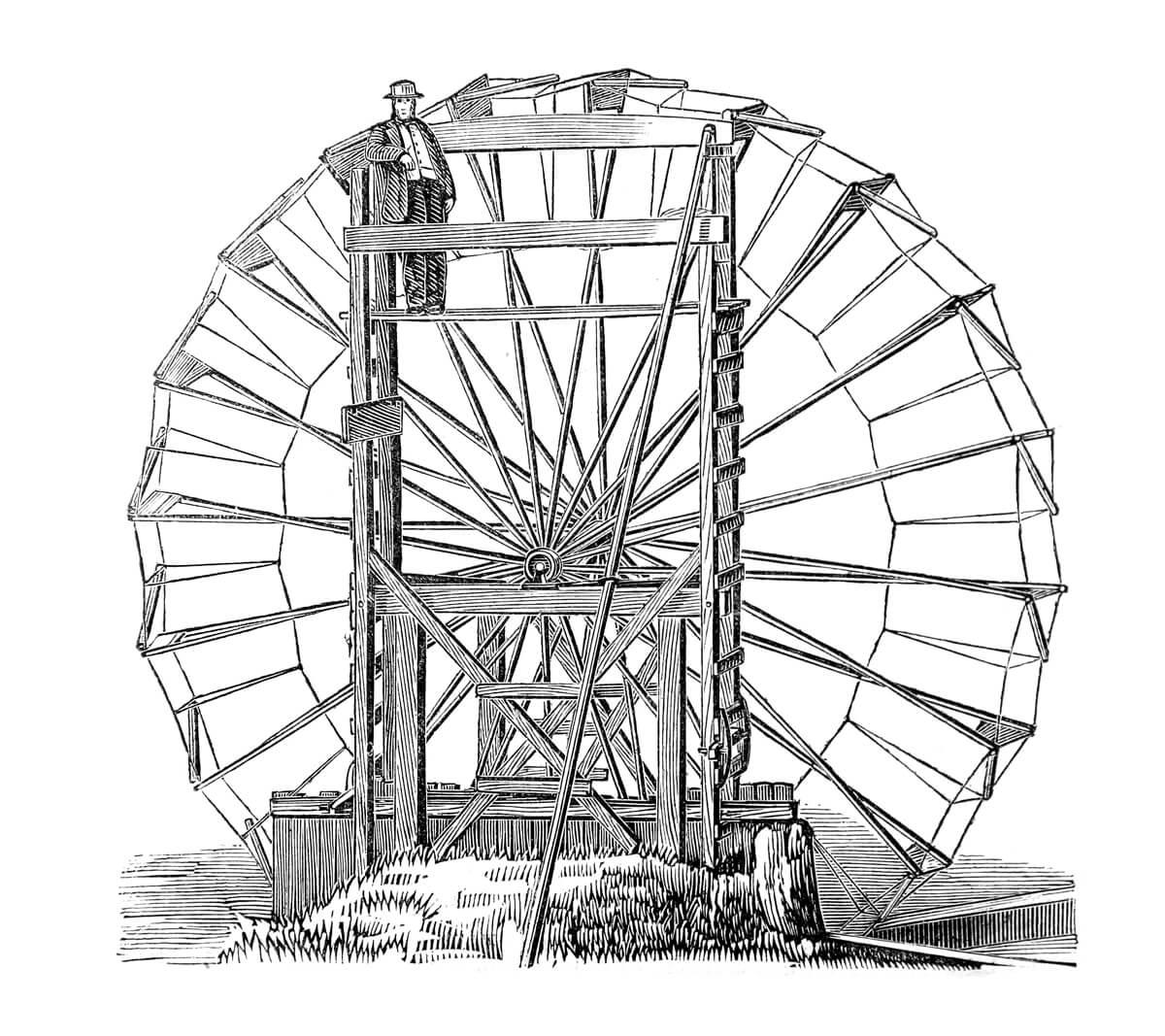 De geschiedenis van het waterwiel